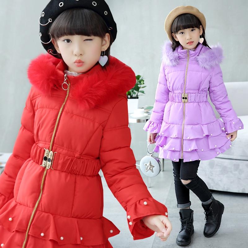 Children's cotton coat girls cotton coat long temperament cotton clothes winter new Korean version of cotton jacket