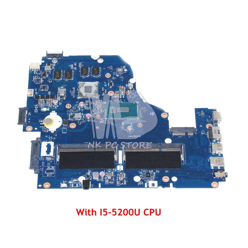 NOKOTION For Acer Aspire E5-571 E5-571G Laptop Motherboard A5WAH LA-B991P NBMLC11007 I5-5200U CPU DDR3L GT840M Video Card