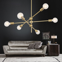 Ball Bubble Gold Loft Led Pendant Lights Line Minimalist Living Room Restaurant Pendant Lamp Hang Lamp Fixtures Free Shipping