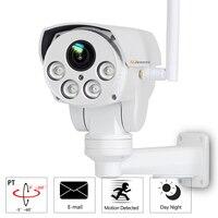 PTZ Wifi 1080P HD 2,8 мм 12 мм объектив 4X зум ip камера видеонаблюдения сеть видеонаблюдения наружное Аудио Электронная почта сигнализация светодио дн