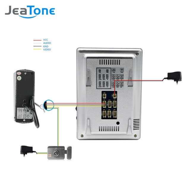 online shop jeatone 4 inch visual video door phone doorbell camera rh m aliexpress com