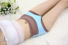 Women's underwear high waist cotton lace sexy briefs