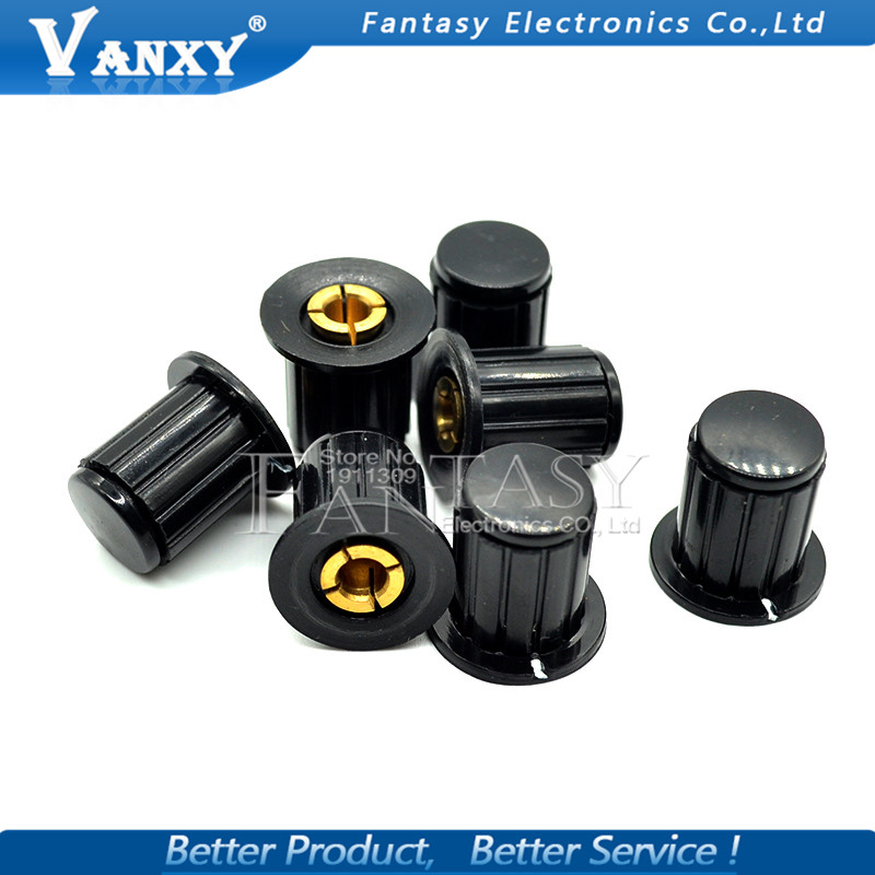 5PCS WXD3-13 black knob button cap is suitable for high quality WXD3-13-2W  turn around special potentiometer knob KYP16-16-45PCS WXD3-13 black knob button cap is suitable for high quality WXD3-13-2W  turn around special potentiometer knob KYP16-16-4