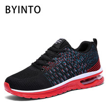2019 Men Tennis Shoes Light Breathable Air Cushion Mesh Sneakers Gym Male Sport Boots Leisure Shoe Tenis Masculino Baskets Homme(China)