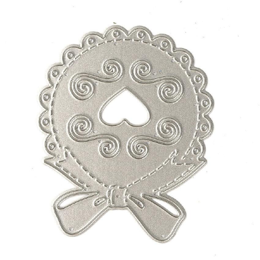 Love Heart Frame Bow Tie Metal Cutting Dies Scrapbooking ...