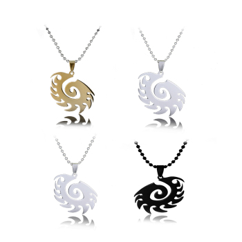 Starcraft 2 II Zerg silver Necklace Pendant Free With Chain Titanium Steel Jewelry