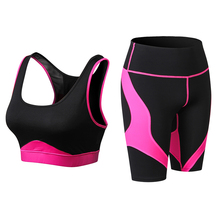 fitness clothing women Sport Suit Sexy sport bra and Tight shorts Yoga Set Gym Suits Female wear Workout Clothes Women