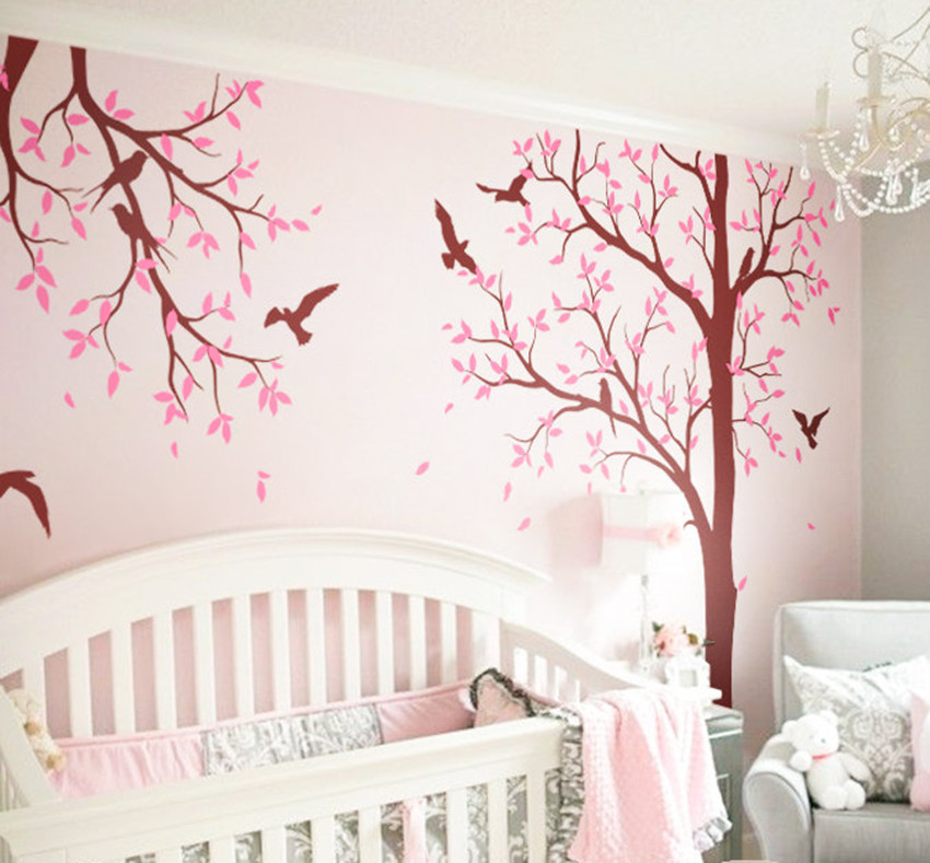 Decoratie Boom Kinderkamer.Enorme Boom Kinderkamer Wall Decoratie Vogels Boom Decal Diy Art
