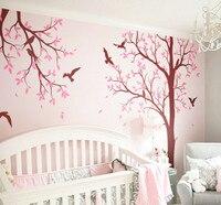 Huge Tree Nursery Room Wall Decoration Birds Tree Decal DIY Art Sticker Kids Nursery Bedroom Living Room Wall Decor Mural NY 193