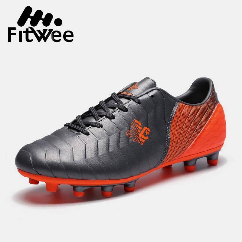 Fitwee Neue Mode Erwachsene Männer Fußball Schuhe Im Freien Gras Fg Fußball Schuhe Und Lange Spike Schuhe Stollen Schuhe Männlich Größe 33-44 NüTzlich FüR äTherisches Medulla