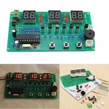 5V 12V AT89C2051 Multi Function Six Digital LED DIY Electronic Clock Kit SH E 878