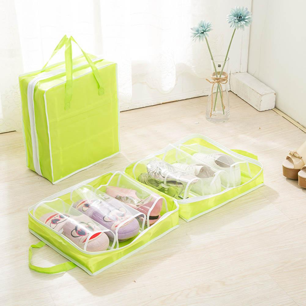 Non-Woven Fabric Large Capacity Portable Travel Shoes Storage Bag Dust-proof Pouch Container(China)