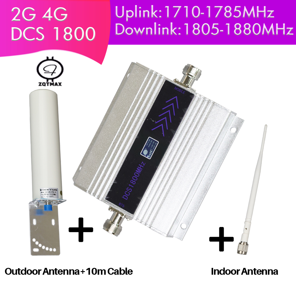 ZQTMAX Cellular Repeater 4G Cell Phone Signal Booster Internet  Amplifier  Lte   With Big Power Antenna