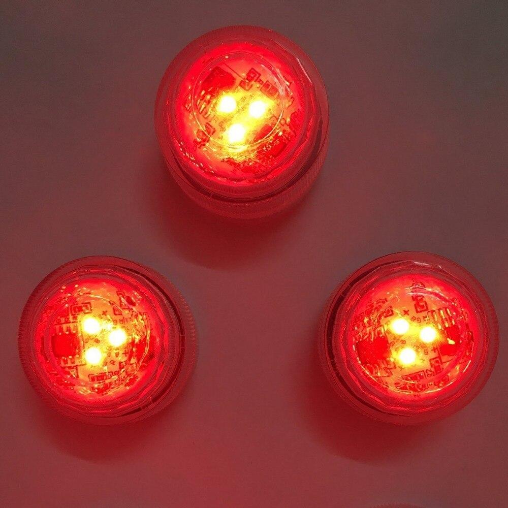12 stk / Lot Multi-farger Endre RGB LED-nedsenkbare - Ferie belysning - Bilde 3