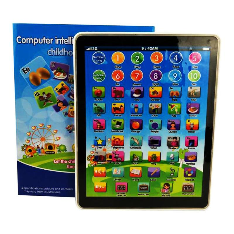 New Kids Children TABLET Computer PAD Educational Learning Toys Gift For Boys Girls Baby 19*14.5*2CM