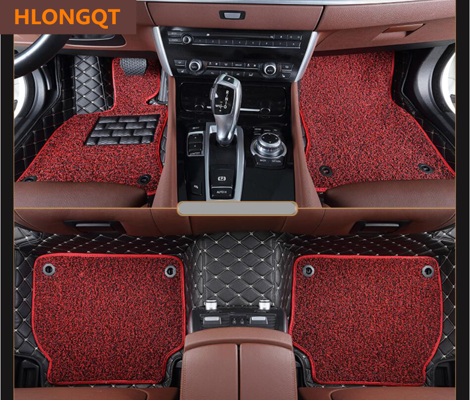 HLONGQT Auto Floor Mats For Nissan Pathfinder 2016.2017.2018 Foot Step Mat High Quality Embroidery Leather Wire coil 2 Layer