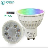 4W Mi Light LED Bulb Lamp Light Dimmable GU10 220V MR16 DC12V RGB Warm White White