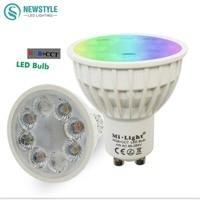 4W Mi Light LED Bulb Lamp Light Dimmable GU10 220V MR16 DC12V RGB Warm White White