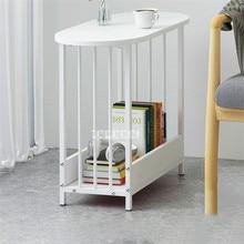 E5009 современный столик для гостиной, сделанный вручную, стальной трубчатый столик для чая, столик для маленькой квартиры, креативный журнальный столик