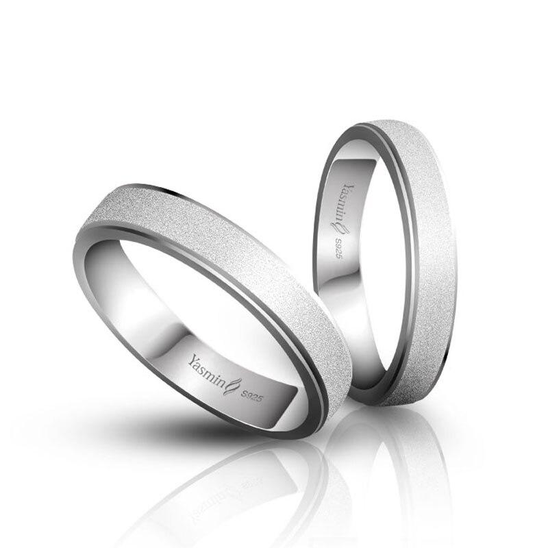Mode Sterling Silber Paar Ringe Solide 925 Silber Hochzeit