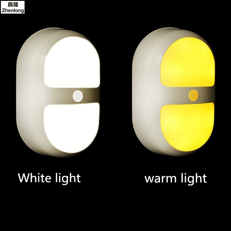 PIR Body Motion Sensor Activated Wall Light Night Light Induction Lamp Closet Corridor Cabinet led Sensor Light battery Sound