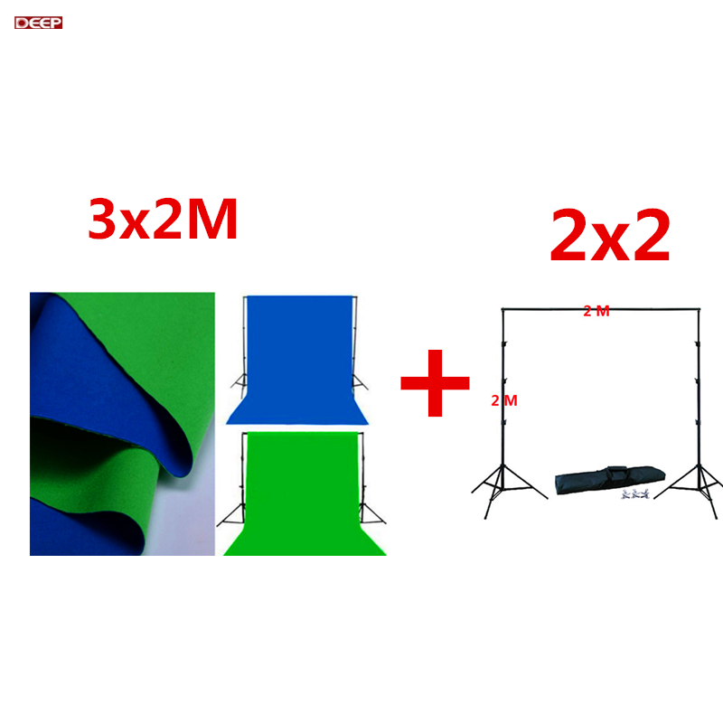 DHL FERR Photo Studio background kit lighting stand + Double 2 Face Fabric backgrounds Cotton Chroma key Muslin Screen Backdrops