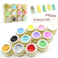 #40269 Professional Nail Art  Beauty  12 Colors 3D UV/LED Emboss Gel 3D Color Gel
