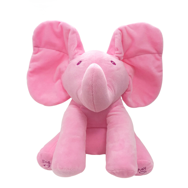 1pc-30cm-Peek-A-Boo-Elephant-Bear-Stuffed-Animals-Plush-Doll-Play-Music-Elephant-Educational-Anti