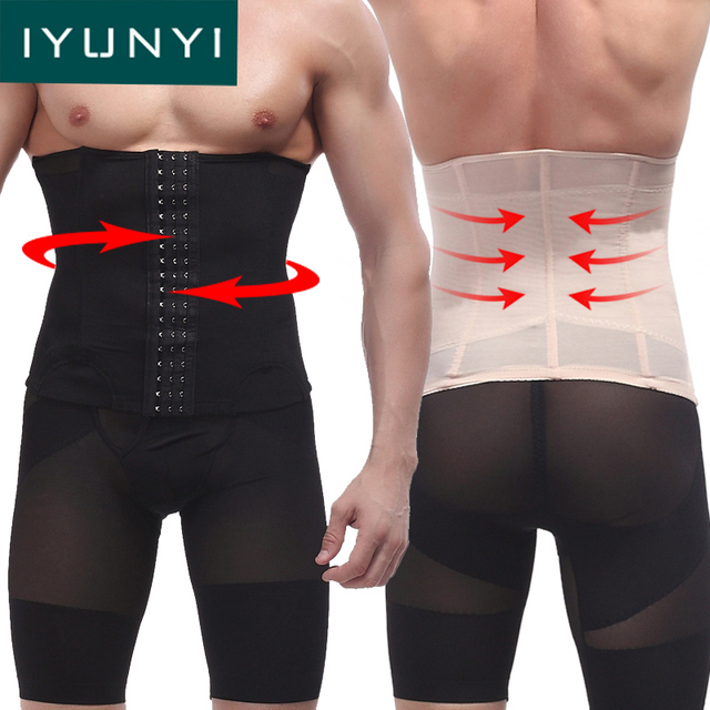 de12a869e2cf7 IYUNYI Men Slimming Waist Belt Body Slimming Tummy Shapewear Fashion Men  Belly Corset Waist Trainer Cincher Slim Body Shaper