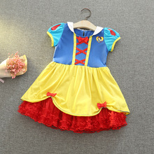 Baby Girls Dress Christmas Anna Elsa Cosplay Costume Summer Dresses Toddler Girl Princess Elsa Dress for Birthday Party Clothing high quality fancy princess elsa costume cosplay dress christmas for girls clothing baby role play halloween dresses with crown