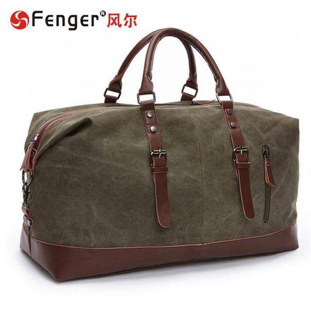 Marrom, verde, preto, azul escuro saco de Viagem Portátil grande saco de Lona dos homens clássicos da marca bagagem duffle sacos