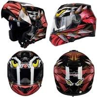 2019 Eagle Tanked Racing motorcycle flip up Helmet MOTO dirt biker motorbike motocross off road safety helmets M L XL XXL XXXL