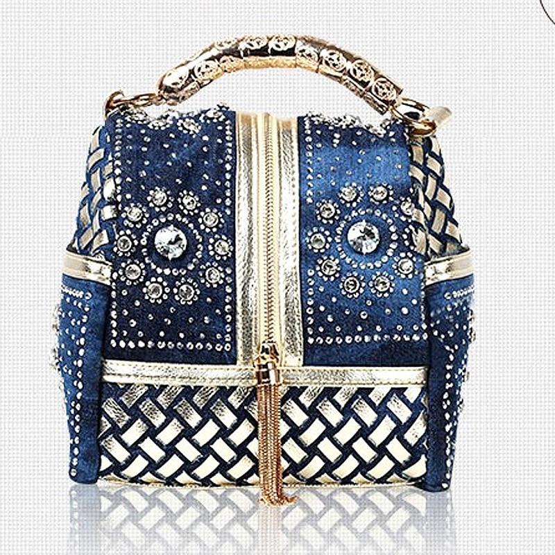 Hot 2017 Designer tkané ženy kabelka slavné značky drahokamu Totes taška přes rameno luxusní tašky