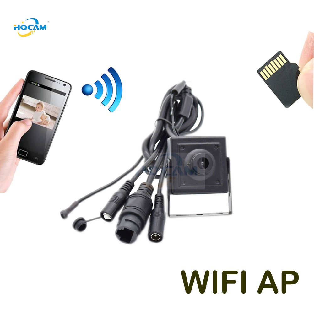 HQCAM 720P 960P 1080P Audio Mini WIFI IP Camera P2P TF Card Slot Wifi AP Wireless Mini IP Camera With Rest & Soft Antenna camhi
