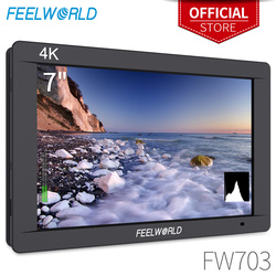 FEELWORLD FW703 7 Cal IPS Full HD 3G SDI 4K HDMI na aparacie DSLR monitor zewnętrzny 1920x1200 z histogramem do kamery stabilizatora w Monitor od Elektronika użytkowa na
