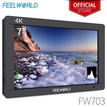 FEELWORLD FW703 7 Inch IPS Full HD 3G SDI 4K HDMI On Camera DSLR Field Monitor 1920x1200 with Histogram for Stabilizer Camera