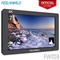 FEELWORLD FW703 7 Inch IPS Full HD 3G SDI 4K HDMI Op Camera DSLR Field Monitor 1920x1200 met Histogram voor Stabilizer Camera