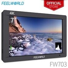 Feel world FW703 7 بوصة IPS كامل HD 3G SDI 4K HDMI على كاميرا DSLR جهاز المراقبة الميدانية 1920x1200 مع الرسم البياني للكاميرا استقرار
