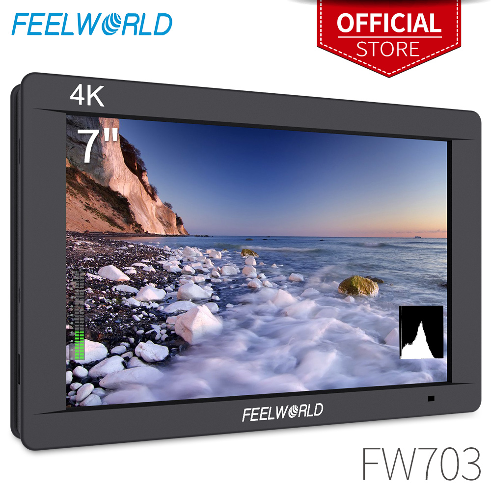 Feelworld FW703 7 Inch IPS 3G SDI 4K HDMI DSLR Monitor LCD Full HD 1920x1200 Portable On Camera Field Monitor for Cameras Rig feelworld f7s 7 inch sdi 4k hdmi on camera dslr field monitor full hd 1920x1200 aluminum housing small lcd ips external display