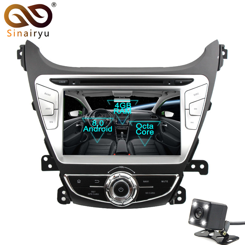 2Din Android 8 0 Octa Core Car DVD Player for Hyundai Elantra 2014 2015 GPS Navigation