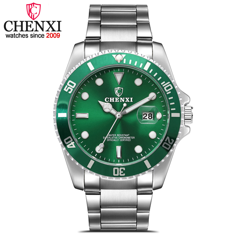 CHENXI Mode De Luxe Hommes Montre Date Horloge Mans En Acier Inoxydable Bande Montres Hommes de Sport Montres À Quartz relogio masculino