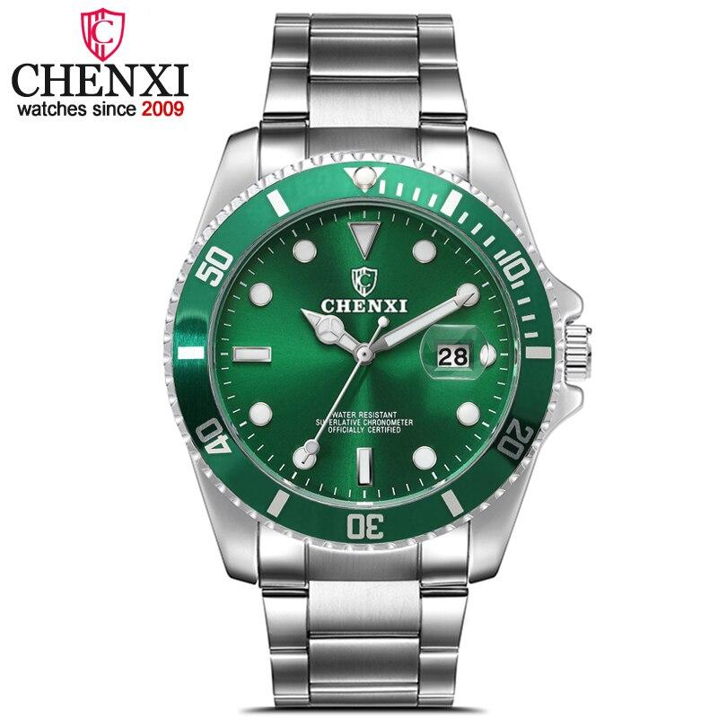 CHENXI Mode Luxus Männer Uhr Datum Uhr Mans Edelstahl Band Armbanduhren männer Sport Quarz Uhren relogio masculino