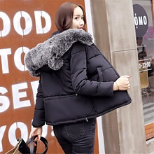 Winter Women Coats Slim Fit Solid Color Short Jacket Cute Hooded Cotton Female Basic Tops Ladies Army Green Black Baggy Jacket