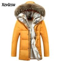 2018 New Coat Men Down Jackets Fur Collar Fashion Thick Warm Parka Casual Snow Men Winter Jackets 3xl.4xl.5xl Canada Goode Coat
