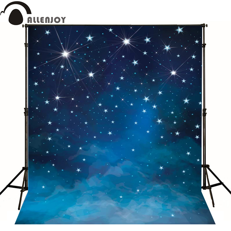 Allenjoy photographic background Space blue stars shine photo backdrops for sale photography fantasy fabric vinyl photocall