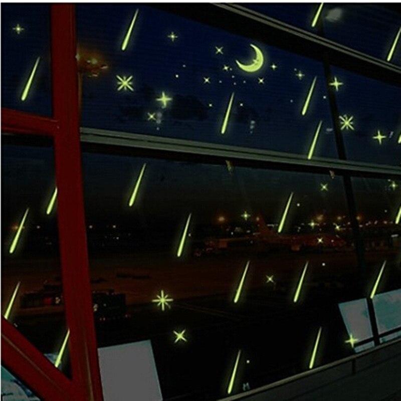 24*24 cm Nachtlicht Leuchtenden Aufkleber Home Decor Wandaufkleber ...