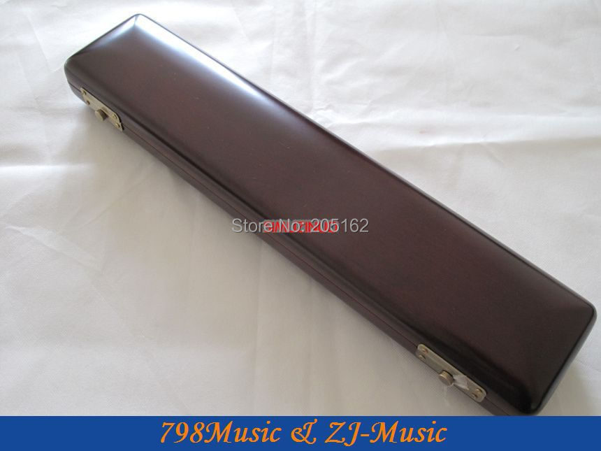 Flute Case WOOD WOODEN Hand Made FOR B FOOT FLUTE wooden flute case hard case rosewood color durable 17 hole b foot flute also c foot flute