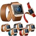 Best Price SPORT Luxury Long Leather Double Ring Watch band Wrist strap For Fitbit Blaze Smart high quality Smart Watch DEC22