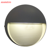 110V 220V 7W Modern Led Wall Lamp Outdoor Indoor Wall Lights For Courtyard Lampadas Simple Leds