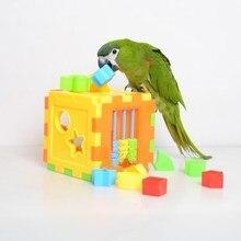Игрушки для домашних животных, птиц, попугая, товары для птиц, игрушки-головоломки для попугайчика, попугая, Обучающие аксессуары D415